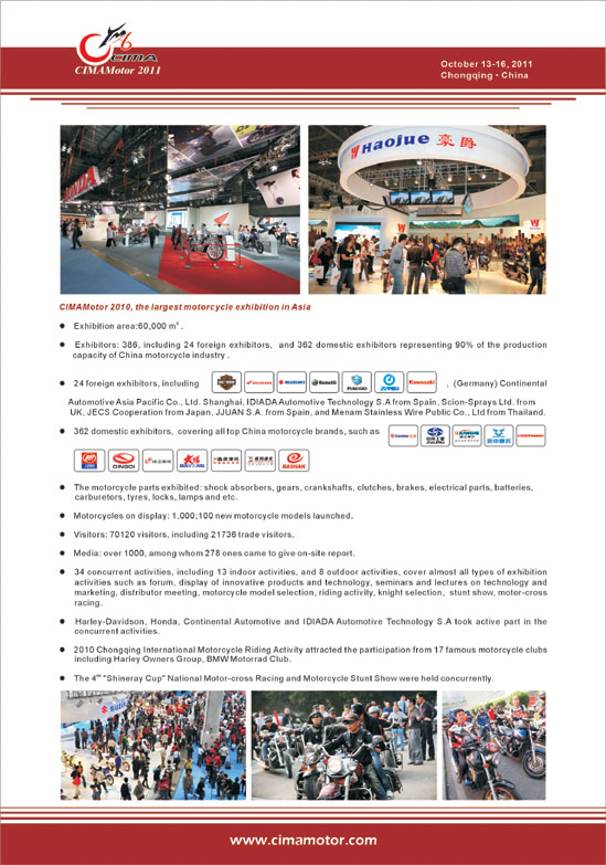 10th china international motorcycle trade exhibition published in august 2011 mobile world magazine-2