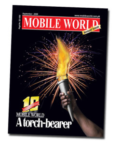 MOBILE WORLD Magazine Title Front Cover Page 10 Years of MOBILE WORLD Magazine