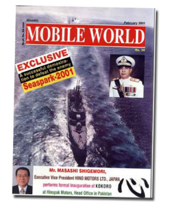 MOBILE WORLD Magazine cover page -16-February-2001