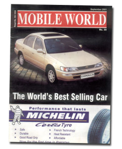 MOBILE WORLD Magazine cover page -21-September-2001