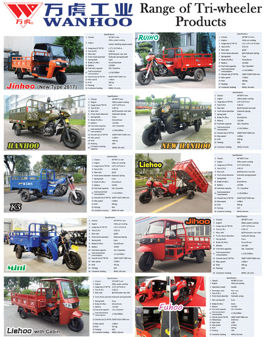 WANHU TRICYCLE- products