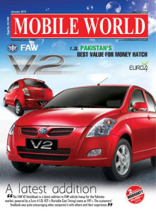 MOBILE WORLD Magazine Title Front Cover Page FAW V2 car