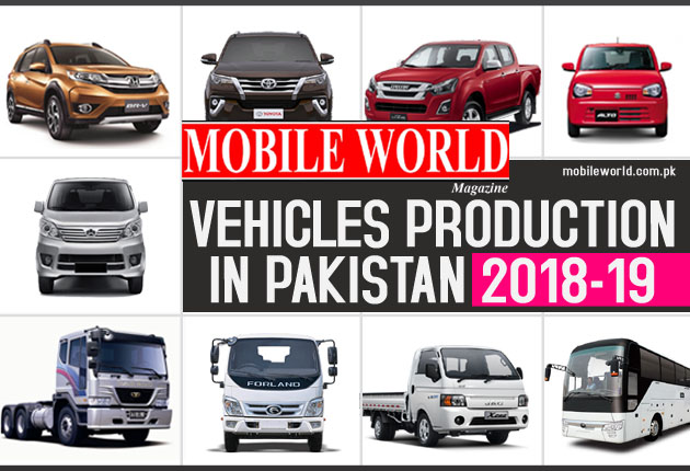 Vehicles Production in Pakistan 2018-19