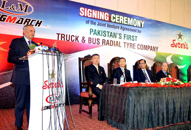 Servis and LongMarch: JV for production of Truck Bus Radial tyres in Pakistan