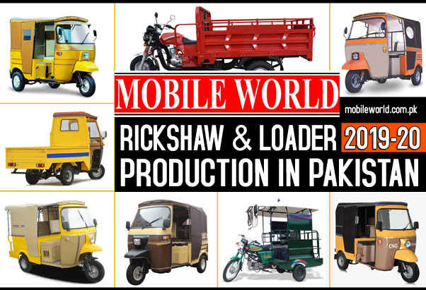 Auto Rickshaw and Cargo Loader Production in Pakistan 2019-2020