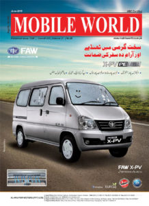FAW XPV van dual ac front cover advertisement June-2019 edition MOBILE WORLD Magazine