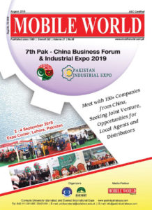 China Pakistan Business Forum Industrial Expo 2019 coverage front cover August-2019 edition MOBILE WORLD Magazine