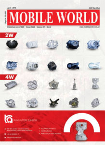 Ravi Sundar Motorcycle & Vehicles Parts advertisement front cover April-2019 edition MOBILE WORLD Magazine
